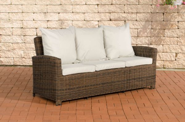 Sofa 3er Fisolo Cremeweiss 5mm